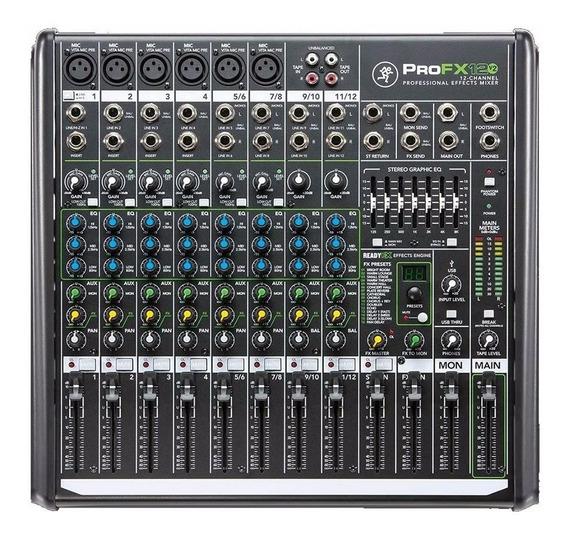 Profx12v2 Mackie Mixer 12 Canais Mesa Som Efeitos Áudio Usb