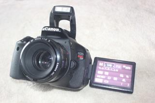Canon T3i Com Lente 50mm Ef 1.8