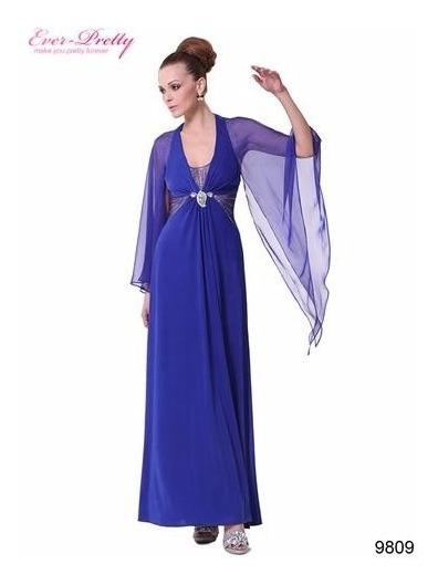 Vestido De Fiesta- Egreso Azul Talle M (mod.8)