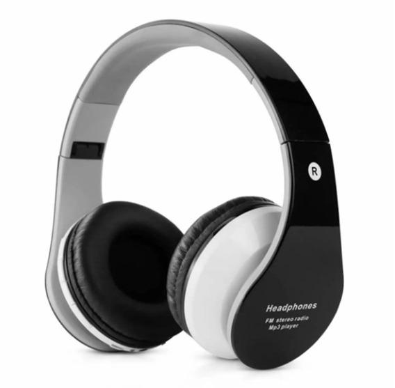 Fone De Ouvido B-01 Bluetooth Radio Fm Cartão Sd Aux P2