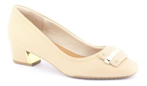 Sapato Feminino S6551 Em Couro - Usaflex