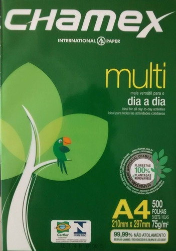 Resma Papel A4 75g Chamex Premium 500 Hojas