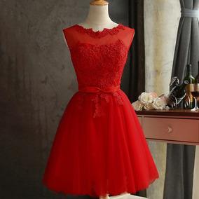 0e04a54d39 Vestidos De Dama De Honor Rojos - Largo de Mujer en Mercado Libre México