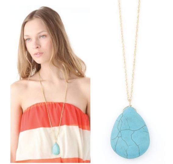 Collar Para Mujer Piedra Turquesa + Envío Gratis