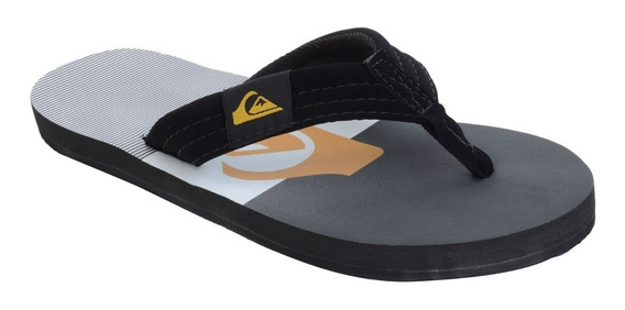 Chinelo Quiksilver Foundation Isla Preto