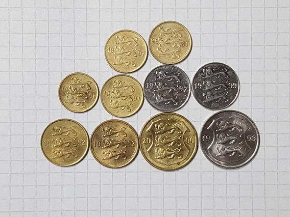 Estonia Colección 10 Monedas