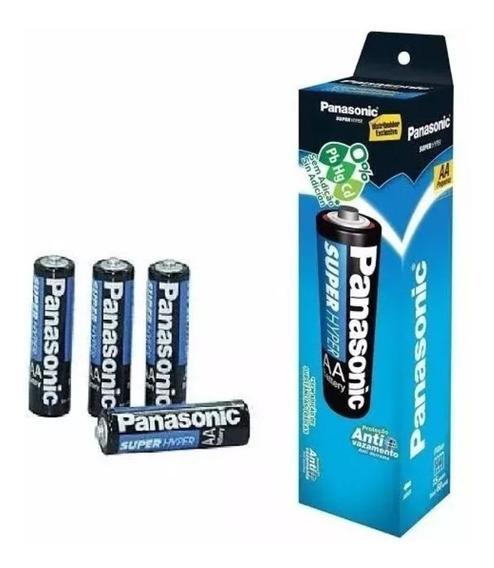 104 Pilhas Panasonic Aa 2a Atacado 1,5v Original Revenda
