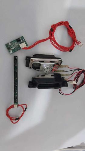 Conjunto De Alto Falante Placas Sensor E Toque Hbtv-22d02fd