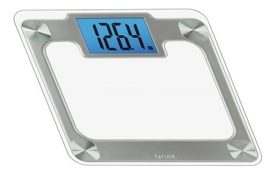 Báscula Digital Personal Lujo Vidrio Templado 200kg Plateada