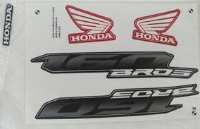 Kit Jogo Faixa Adesivo Honda Bros Nxr 160 Esdd 2016 Vermelha