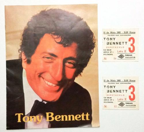 Par Ingressos Revista Show Tony Bennett São Paulo 1980