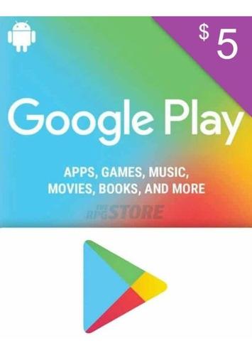 Tarjeta Google Play Store De $ 5 Free Fire