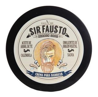 Sir Fausto Barber Shop Crema Para Afeitar Mentolado X 200 Gr