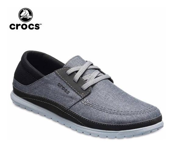 Crocs Originales Santa Cruz Playa Lace Color Gris Stale Grey