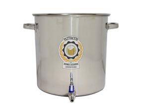 Panela Caldeirão Cervejeiro Inox 201 Com Registro 65l - 45cm