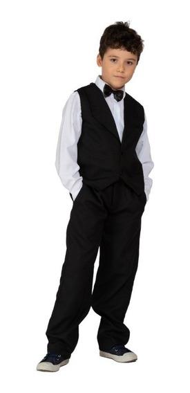 Conjunto Masculino Infantil Colete Camisa Calça Gravata