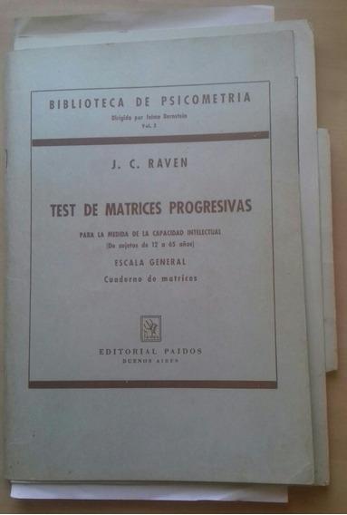Test De Matrices Progressivas Biblioteca De Psicometria 3