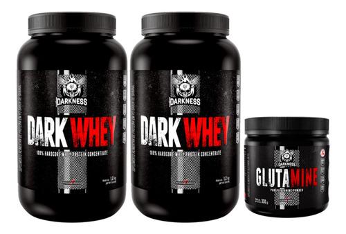 2x Dark 100% Whey 1,2kg Integral + Glutamina 350g Darkness
