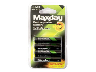 Pilas Maxday Pack X4 Aaa Recargable 2800mha