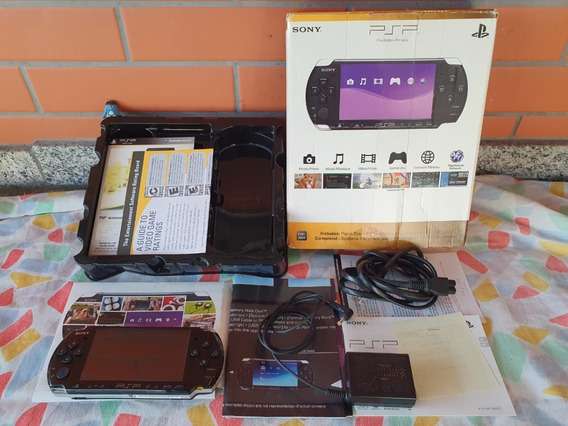 Sony Psp 3001 Console Americano Na Caixa Completo A2