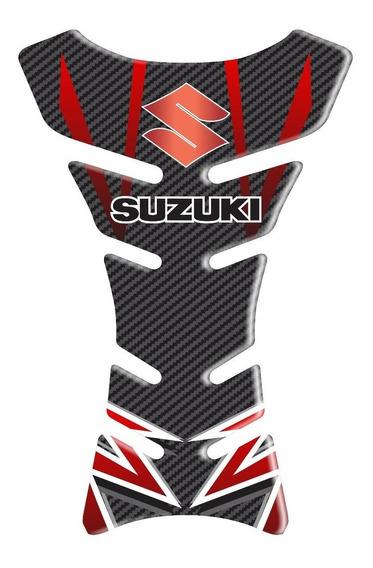 Protetor Resinado Tanque Suzuki Gsx 750f - Carbono Vermelho