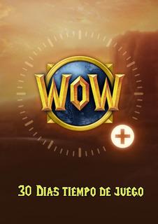 Tiempo De Juego Wow [30 Días] Entrega Inmediata