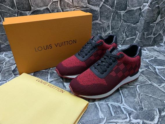 Tenis Sneakers Louis Vuitton Runaway Rojo Vino, Envío Gratis