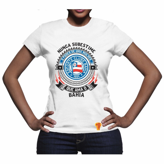 Camiseta Bahia Ama Futebol Clube Feminina T Shirt Brusinha