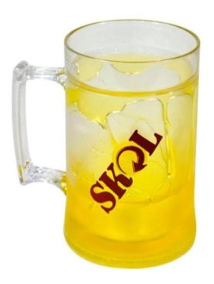 Caneca Para Cerveja Gel Congelante Skol