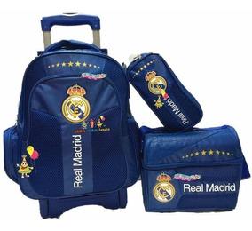 Real Madrid Kit Mochila Carro Prim Lonchera Y Lapicera