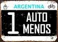 Patente De Chapa 10x14cm Bici Bicicleta Un Auto Menos 013