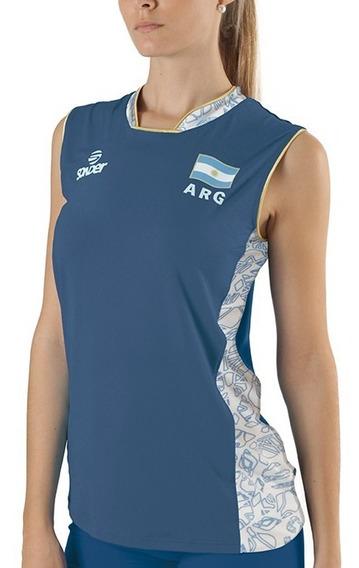 Camiseta Oficial Voley Panteras 2019 Argentina Sonder Azul