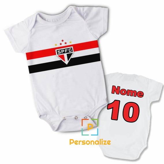 Body Infantil Personalizado Camisa Do São Paulo Com Nome!