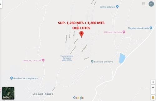 Terrenos Para Casa De Campo, Villas Del Carbón Sup 1260 Mts