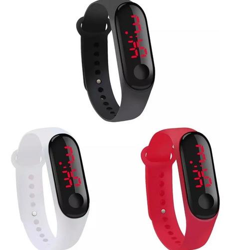 Kit 70 Relógio Pulseira Sport Digital Led Colors Atacado Top