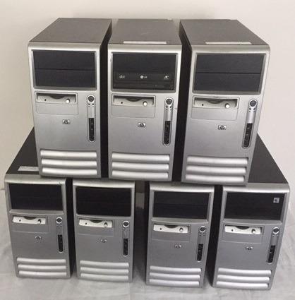 Lote De 05 Micro Computadores Hp Athlon 64 2gb Hd 80gb