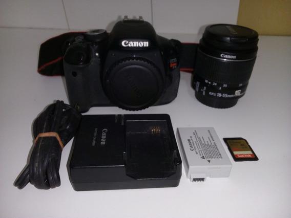 Câmera Canon Eos Rebel Canon T3i Com 4.477 Clicks - Perfeita