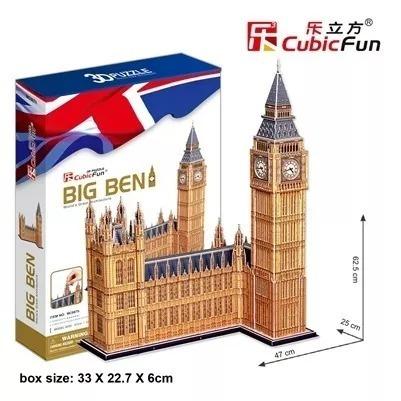 Puzzles 3d Cubicfun Big Ben 117 Piezas