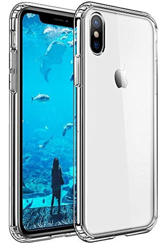 Compatible Con iPhone XS Max Case Transparente Antiarañazos