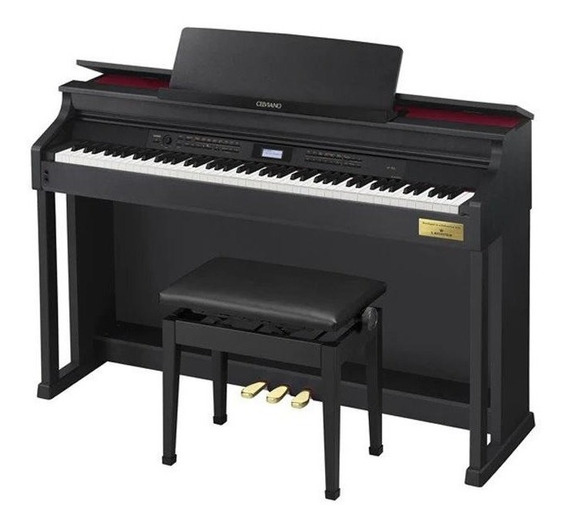 Piano Digital Casio Celviano Ap700 C/ Fonte E Banco Ap-700