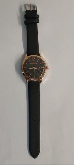 Reloj Análogo Para Dama Negro Oro