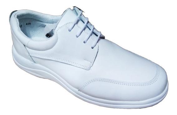 Zapato Piel Borrego Pie Delicado Diabetico Blanco Medico 802