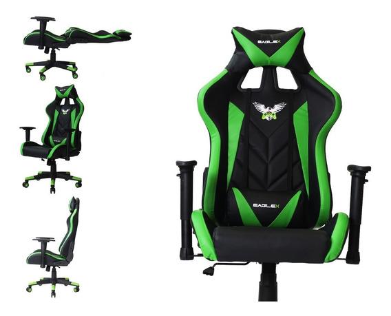 Cadeira Gamer Racer Pro Reclinável Com Braço 3d Giratória