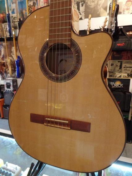 Guitarra Electro Criolla Fonseca 40 Kec Con Corte Y Eq