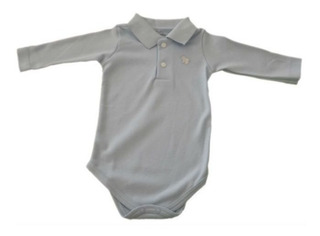 Body Polo - Azul - Baby Fashion