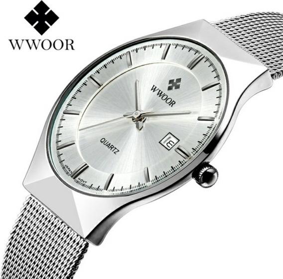 Wwoor - Relógio Masculino Ultra Fino Quartz Japonêsluxuoso