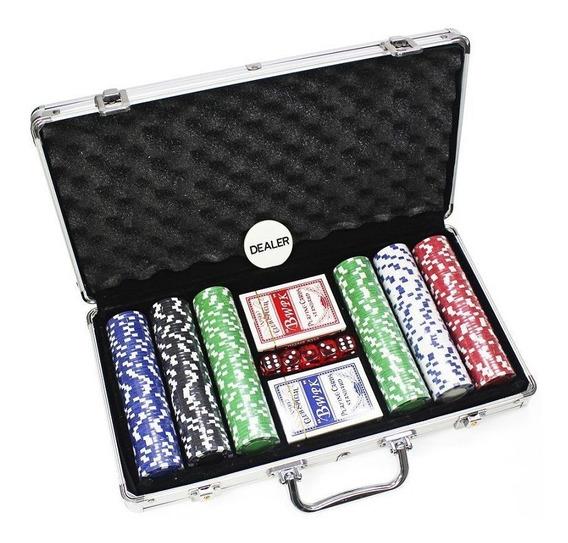 Maleta De Poker 300 Fichas Sem Numeração