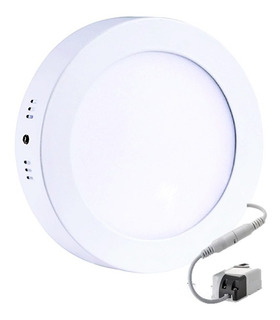 Lampara Led Panel 12w Redonda Luz Blanca Superficial 24