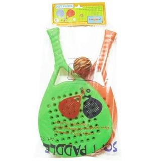 Paletas Paddle Infantil Familiar X2 + Pelota Juegosol +3 Año