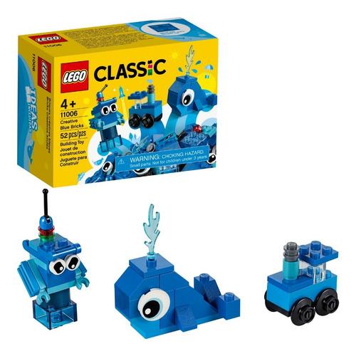 Lego Classic 11006 Ballena Azul 3 En 1 Figuras 52 Pzs